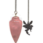 Kheops International - Pendulum with Fairy Curved Rose Quartz