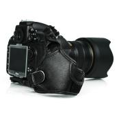 FotoTech Professional 100% GENUINE LEATHER Hand Wrist Strap Grip for Nikon D3, D3S, D3X, D4, D800, D800E, Df, D700, D600, D610, D7100, D7000, D90, D80, D300S, D300, D5200, D5100, D5000, D3200, D3100, D3000 with FotoTech Velvet Bag