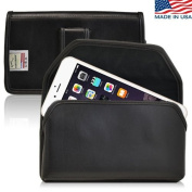 Turtleback iPhone 6 (4.7) Genuine Leather Holster Case Pouch with Metal Belt Clip - Magnetic Flap - Made in USA