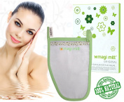 Magi Mitt Body Exfoliator - Best Exfoliating Mitten & Dead Skin Remover - Microdermabrasion Tool For Skin Firming - Wrinkle Repair - Scar Removal - Cellulite Massager - Blackhead Remover - Dry Skin Face Body Scrub