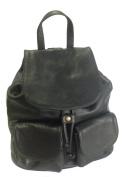 Black Italian Leather Rucksack, Handbag or Backpack