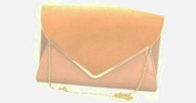 Girly HandBags Faux Leather Suede Clutch Bag Shoulder Chain Elegant Party Evening