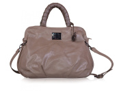 Italian Soft Faux Leather Braided Handles Tote Bag, Shoulder Bag, Handbag