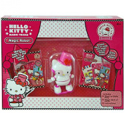 Hello Kitty Magic Card Tricks Boxed Gift Set With 2 Decks Of Cards, Magic Wand, And Wind Up Figurine