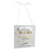 Signography 'Mr & Mrs' Wedding Day Wall Plaque