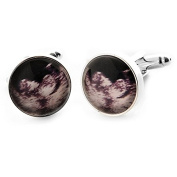 Glass Cufflinks featuring Baby Scan Image