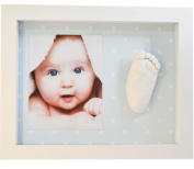 KIT CASTING FOOTPRINT 3D BABY WITH FRAME -BACK SPOTS BLUE