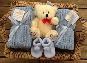 Newborn Baby Boy Deluxe Blue Hamper - The Perfect Gift