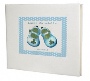 baby record book,baby memory book,baby Boy Guest Book,Blue shoes