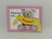 "PHOTOS OF HEATHER - BABY PHOTO ALBUM 60cm X 10cm X6"" PHOTOS"