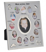"""Photo Frame with German Text """"Mein erstes Jahr"""" (My First Year) for Baby Photos"""