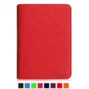 Fintie Kindle Voyage Folio Case, Slim Fit Premium PU Leather Book Style Cover with Auto Sleep/Wake (will only fit Amazon Kindle Voyage 2014), Red