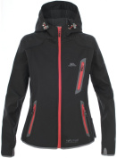 Trespass Women's Sirena Softshell TP75 Hooded Jacket, Black, X-Small