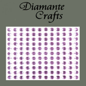 132 x 5mm Lilac Diamante Self Adhesive Rhinestone Body Vajazzle Gems - created exclusively for Diamante Crafts