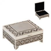Sophia Silverplated Square Trinket Box with Feet Art Deco Design