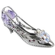 Crystocraft Keepsake Gift Ornament - Silver High Heel Shoe with Swarvoski Crystal Elements