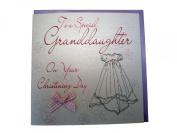 White Cotton Card Christening Granddaughter