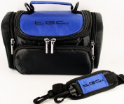 TGC Blue & Black Shoulder Camera Case for Polaroid SLR Polaroid is2132 Bridge Cameras & Camcorders
