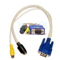 Wired--up VGA to S-Video / RCA Adaptor