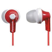 Panasonic RP-HJE120E-R Ergo Fit Ear Canal Headphones - Red