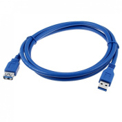 USB 3.0 Type A Female to Male Plug Connector Extension Cable 1.5M Blue