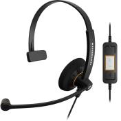 Sennheiser SC30 USB Monaural Microsoft Lync Headset - Black