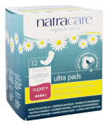 Natracare Organic And Natural Ultra Pads Super Plus- 12 x Packs of 12