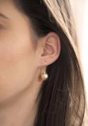 Carissima 9ct Yellow Gold 10mm Diamond Cut Ball Drop Earrings