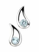 Elements Sterling Silver Ladies' E3057T Blue Topaz Teardrop Earrings
