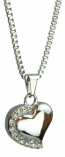 Heart with Crystals Urn Pendant - Memorial Ash Keepsake - Cremation Jewellery