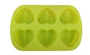 Leegoal (TM) 6 Cavity Heart Silicone Cake Mould Pan