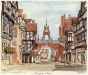 Portrait of Britain, Chester - Eastgate, Cheshire, Framed
