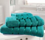 Kensington Egyptian Cotton Satin Stripe Bath Sheet Towel, Teal 600 gsm Luxury Towel - Linenstowels2011