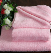 Homescapes Turkish Cotton Bath Sheet Pink Very Soft and Absorbent, 500 GSM Heavy Weight Towel for everyday Luxury