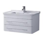 Madrid 800mm, White Gloss, Wall Hung Unit & Basin by John Louis Bathrooms