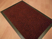 SMALL RED /BLACK DOOR MAT RUBBER BACKED RUNNER BARRIER MATS RUG PVC EDGED KITCHEN MAT(40 X 60 CM) FREE UK DELIVERY