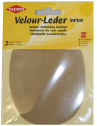 Kleiber 12.5 x 10 cm Imitation Suede Leather Sew on Knee/ Elbow Patches Oval, Sand