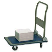 RelX Platform Truck Medium-duty Capacity 150kg Baseboard W475xL735mm Blue and Grey Ref PH150 [320163]