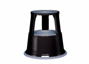 Wedo 212101 Rolling Kick Stool TÜV DIN 4569 Metal RAL 9005 Black