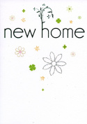 New Home Card - Finished with Green Foil and Hand Finished with Silver Glitter
