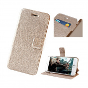 Aroncent PU Silk Pattern Leather Wallet Case for Apple iPhone 6 12cm Screen (AT & T, T-Mobile, Sprint, Verizon), Champagne