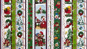 Hoffman 'Suzy's Zoo' Christmas Stripes on Cotton Fabric By the Yard