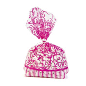 Hot Pink Swirl Flourish Favour Bags