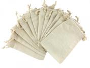 Muslin Drawstring Pouches 10cm x 15cm Pack of 12