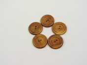 Subabul Wood 2.9cm Round Buttons