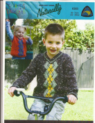 Kids Argyle V-Neck Sweater or Pullover Vest Knitting Pattern - Naturally Kids Connexion K583 - Pattern Only