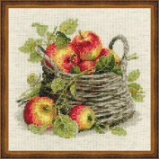 Ripe Apples Counted Cross Stitch Kit-30cm x 30cm 10 Count