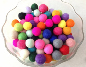 Yarn Place Felt Balls - 50 Pure Wool Beads 30mm Mixed Colourful Colours