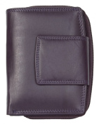 Women's Violet Genuine Leather Wallet Without Any Logos or Markings