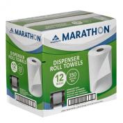 Marathon - Dispenser Roll Paper Towels, 110m Rolls - 12 Rolls